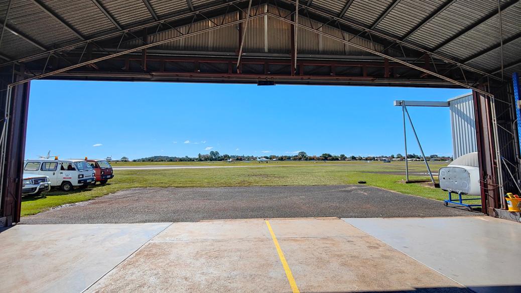 Inside Hangar