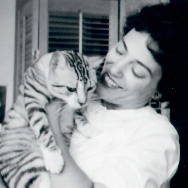 Muriel with cat