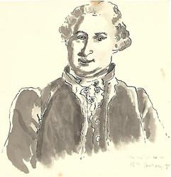 Drawing of George Washington