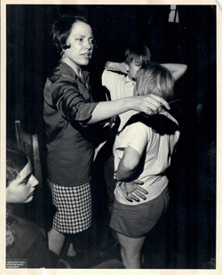 Muriel with Student