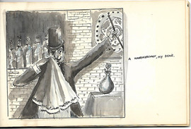 Drawing of Magician Sneezing