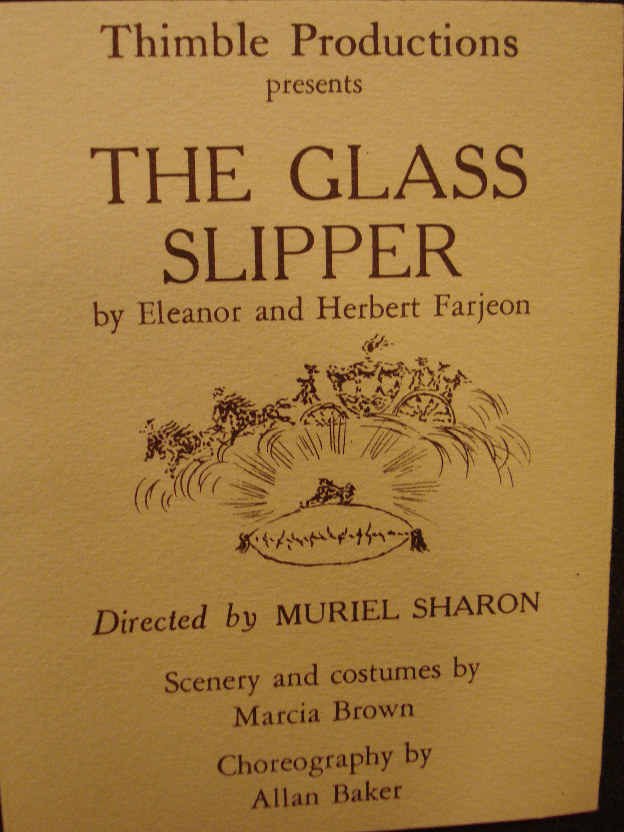 The Glass Slipper, Booklet, 1959-60