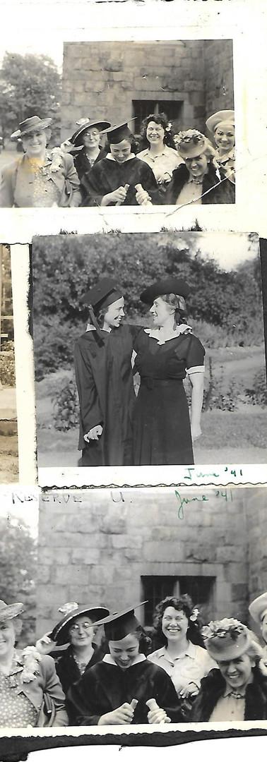 Muriel Graduating Western Reserve  1941
