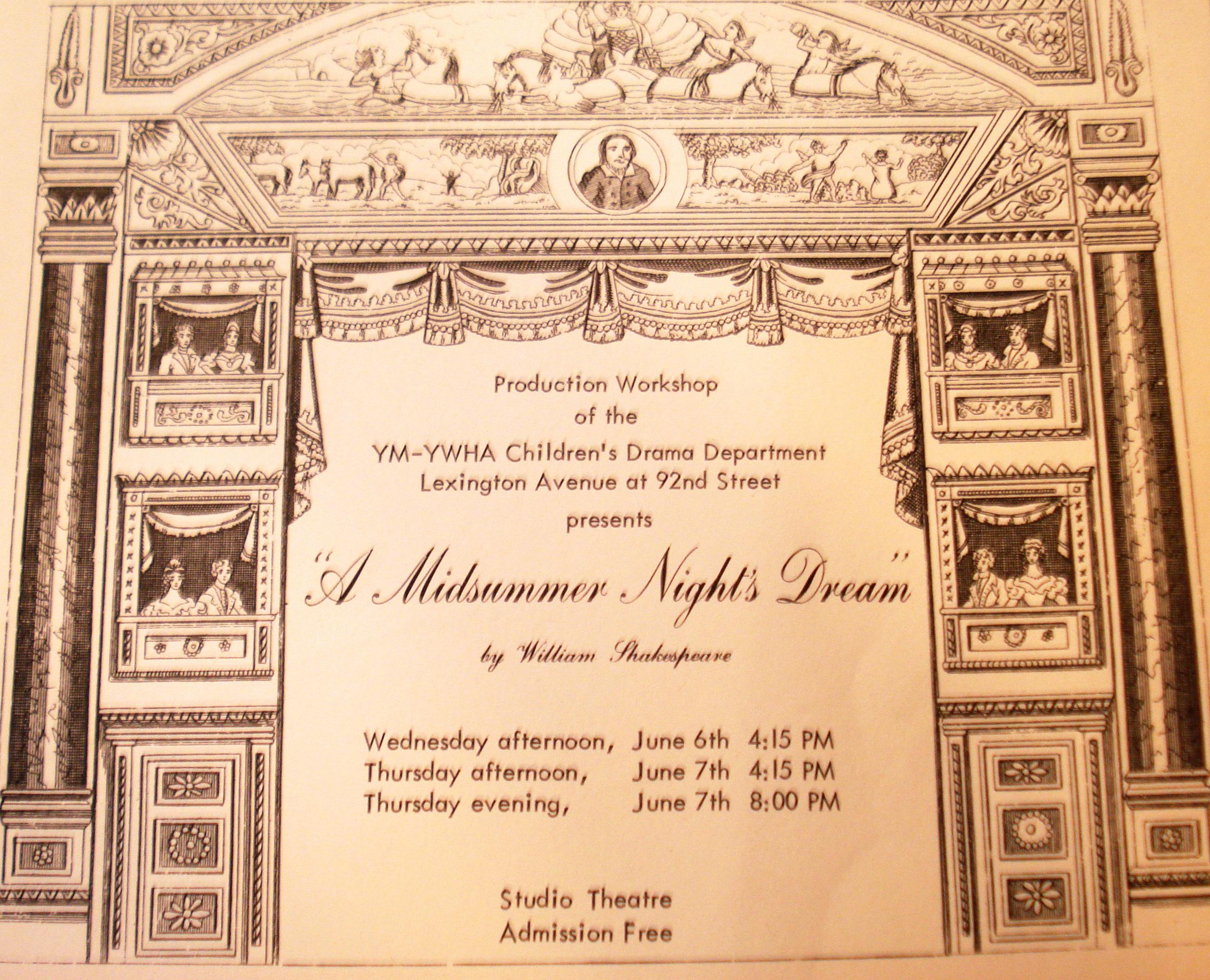 A Midsummer Night's Dream Flyer