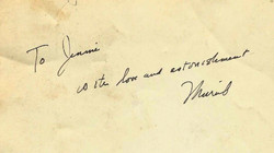 Note from Muriel to Jenny Robinson