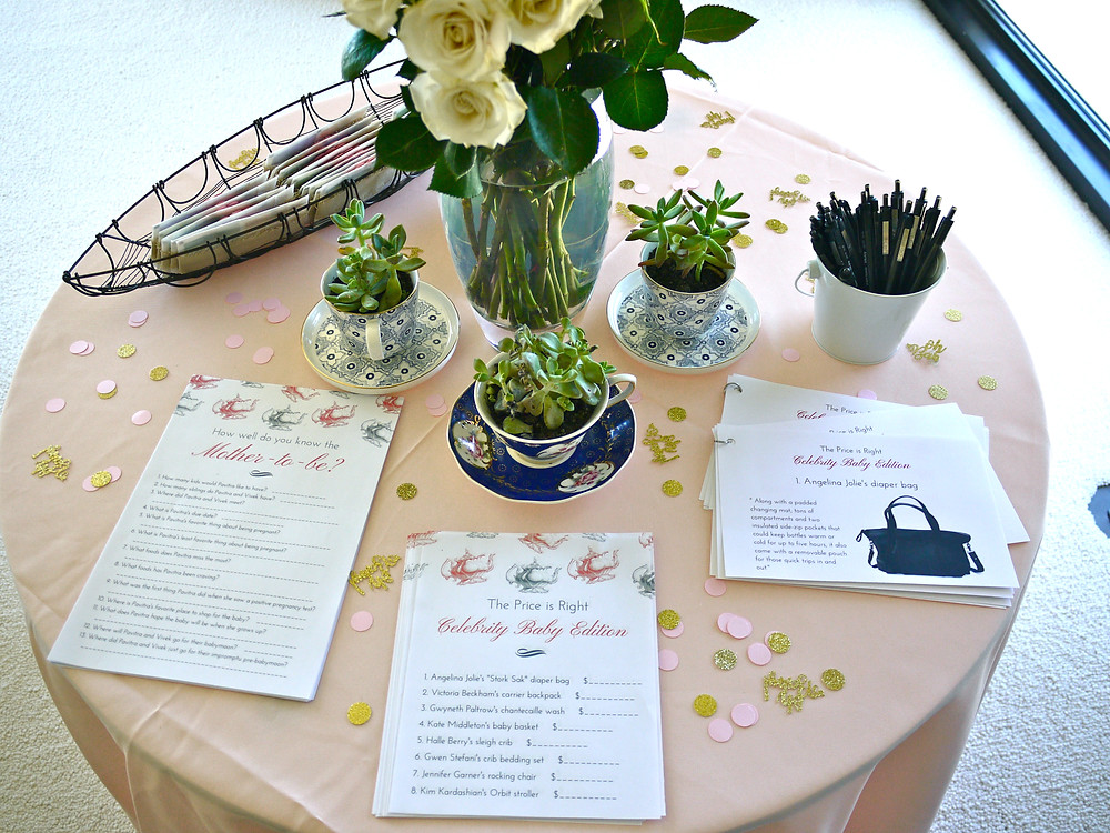 Baby Shower Decor - Tea Party Baby Shower - Baby Shower Games