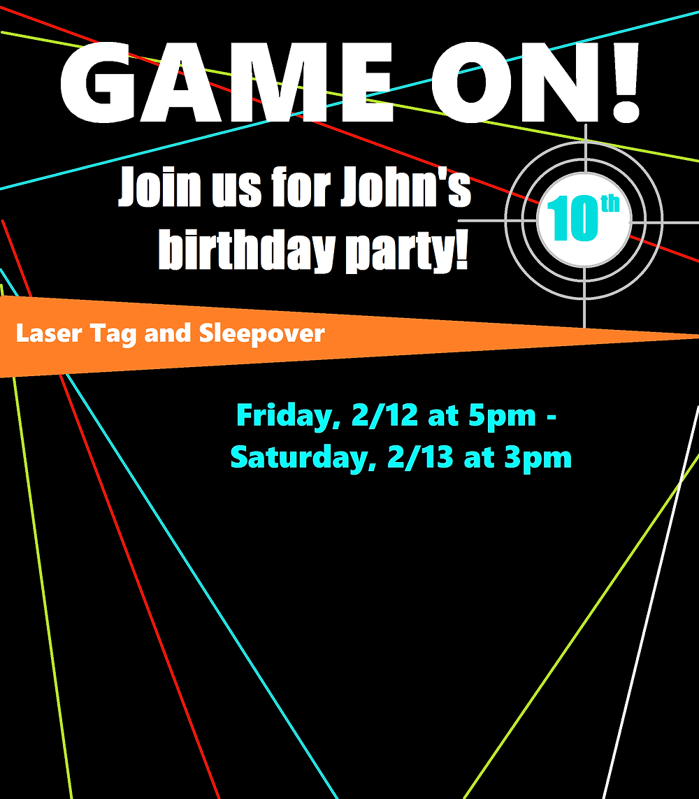 Laser Tag Party - Kids Birthday Party Decor