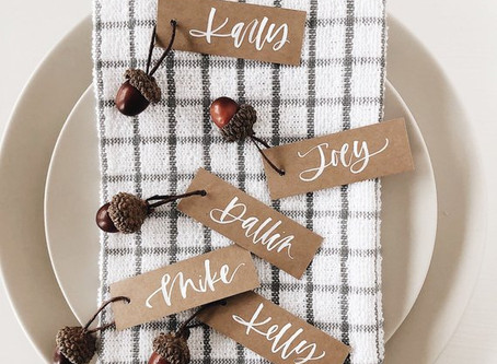 Thanksgiving Decor Spotlight: 6 DIY Place Cards