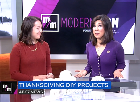Thanksgiving Crafts Featured on ABC7 News