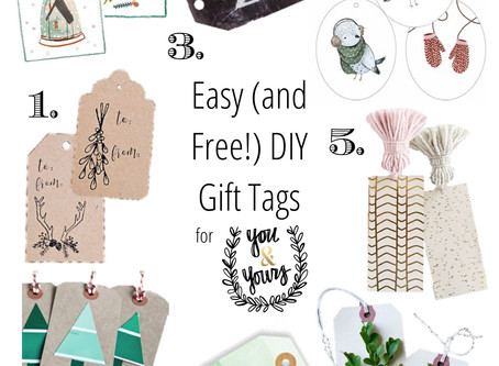 8 Easy (and Free!) DIY Gift Tags