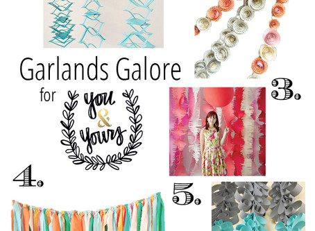 Add pizzazz to your party with these DIY garlands!