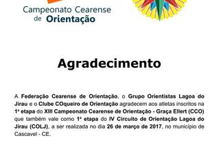 3o. boletim informativo da 1a. etapa do XIII CCO - Graça Ellert / IV COLJ