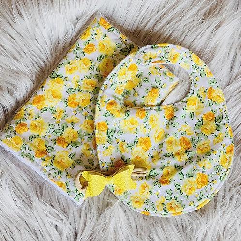 Yellow Rose Burp Cloth