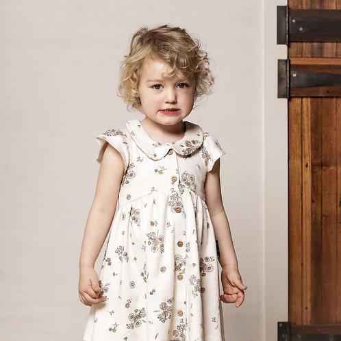 V Floral Button up Dress