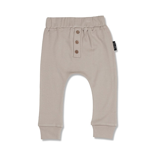Taupe Button Slouche Pant