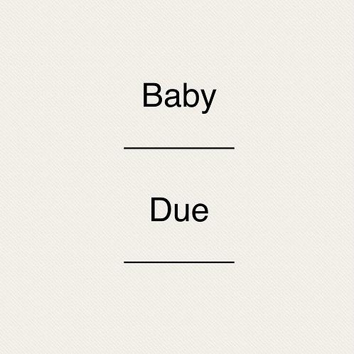 Pregnancy Announcement plaque