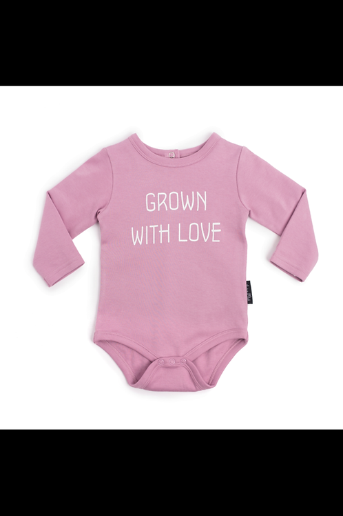 Grown with Love Onsie - Orchid