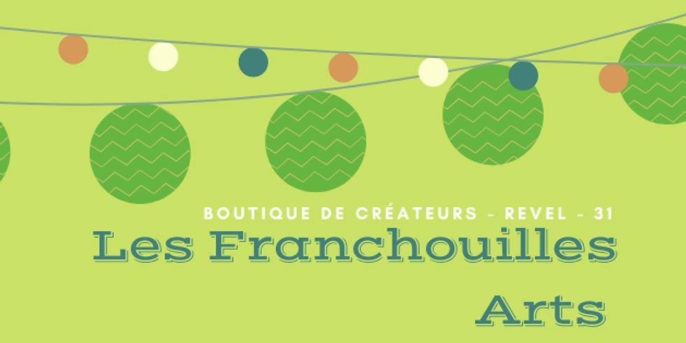 Boutique Les Franchouilles-arts à Revel jusqu'en janvier 2021.