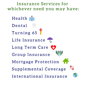 Insurance services for whichever need yo