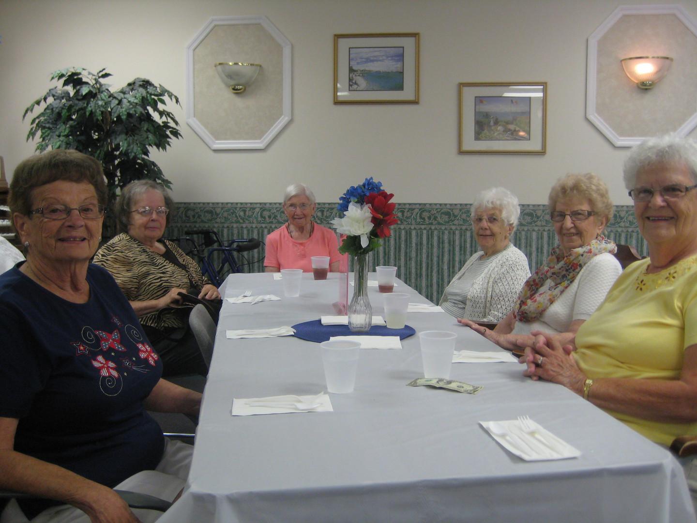 friends dine together at chandler estate