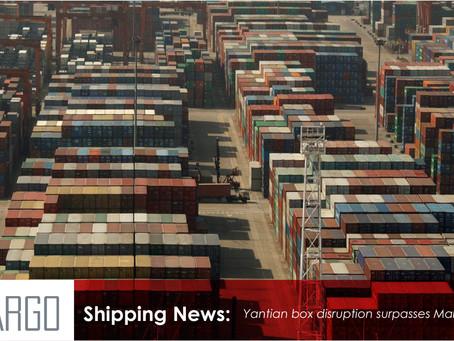 Yantian box disruption surpasses March's Suez crisis