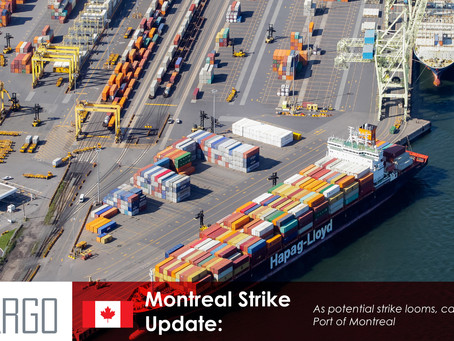 Shipping industry warns of disruptions from potential strike at Port of Montreal
