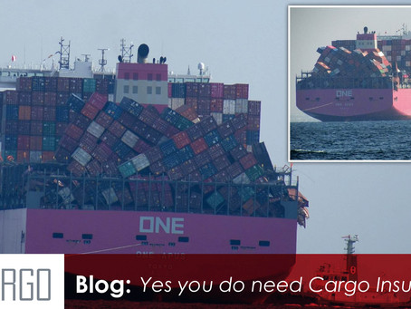 1,900 Containers Lost on a single container ship: Yes you do need Cargo Insurance.