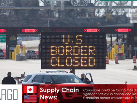 Canadian border workers vote in favor of striking as soon as Aug. 6, union says