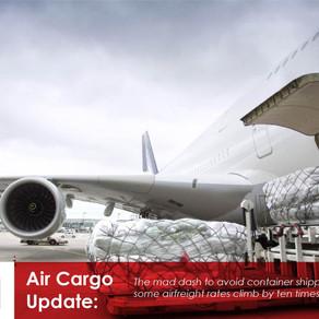 Air cargo rates skyrocket again as forwarders scramble for capacity