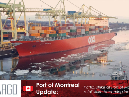 Partial strike at Port of Montreal as a full strike becoming increasingly likely