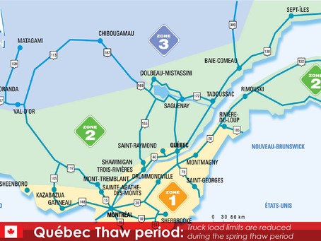 Changes in Weight Levels - 2021 Quebec Spring Thaw Period