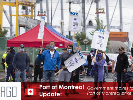 Government moves to end Port of Montreal strike