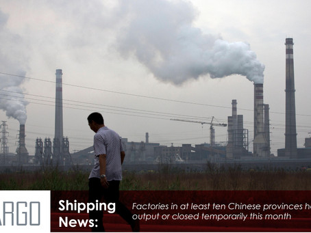 Power cuts hit China factories and give container shipping another shock