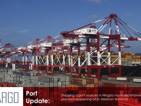 Partial reopening of Ningbo terminal scheduled for next week