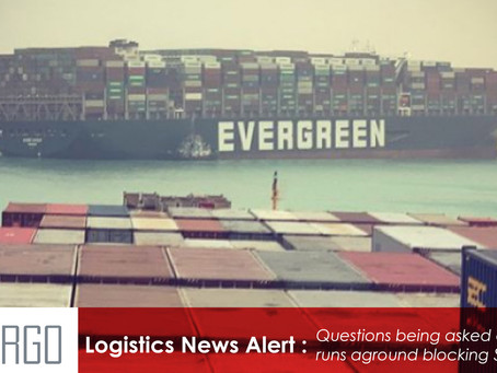 Questions being asked after box ship runs aground blocking Suez Canal