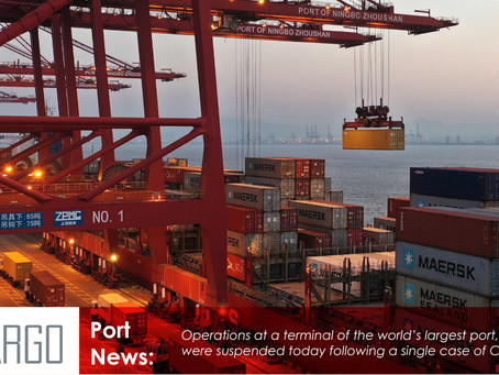 The world's largest port, Ningbo, starts to turn ships away as a worker tests positive for Covid-19