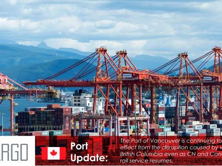 Port of Vancouver congestion mounts despite resumed rail service