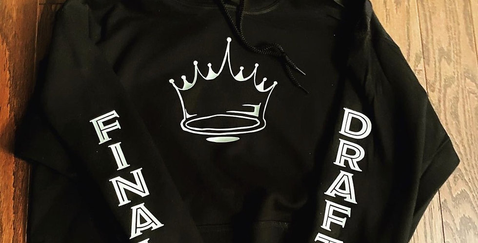 Final Draft Black & White Crown Hoodie
