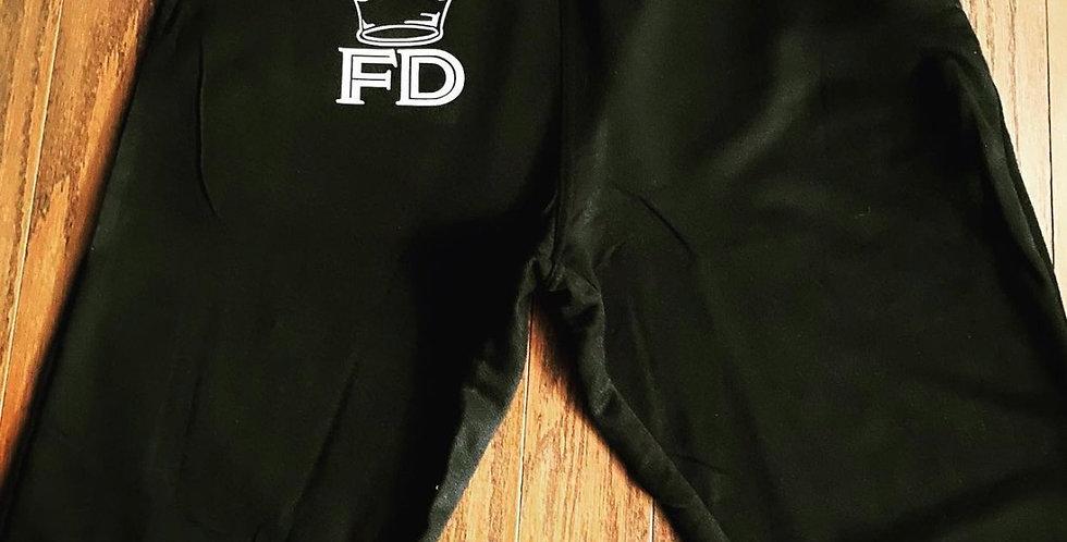 FD Black & White Crown Sweatpants
