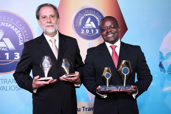 cerimônia de premiação, 2013. foto: divulgação