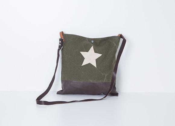 Besace Mili Brown Cream Star