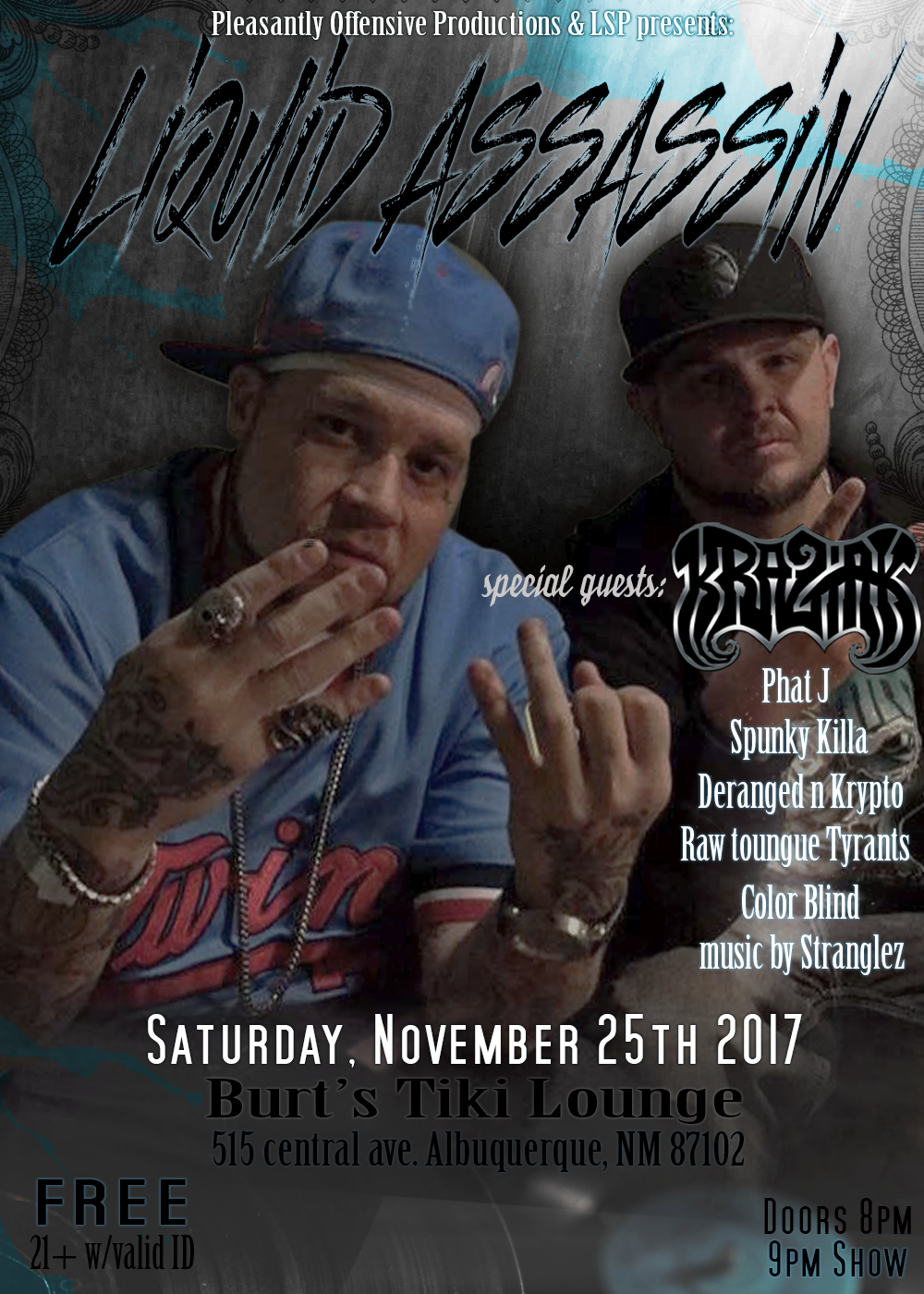 LA kraziak show flyer