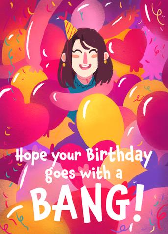 Balloon Birthday Card no.3