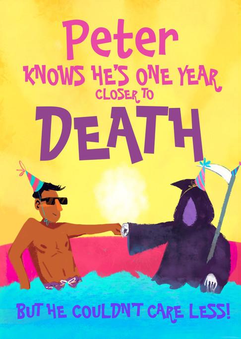 Dark Humor Birthday Card