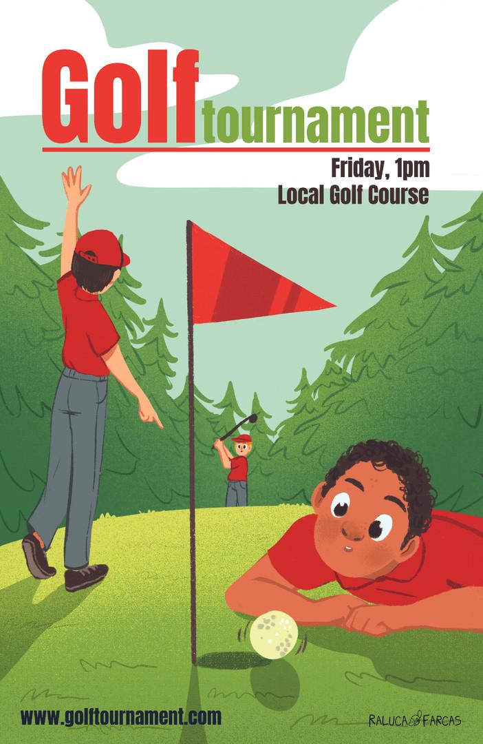 Golf Poster- Boys