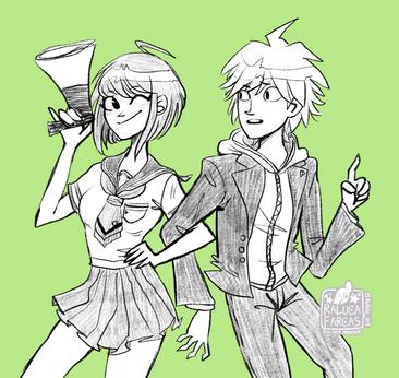 Komaru and Makoto Naegi