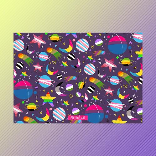 LGBTQ+ Galaxy Print