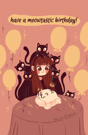 Meowtastic Birthday Card