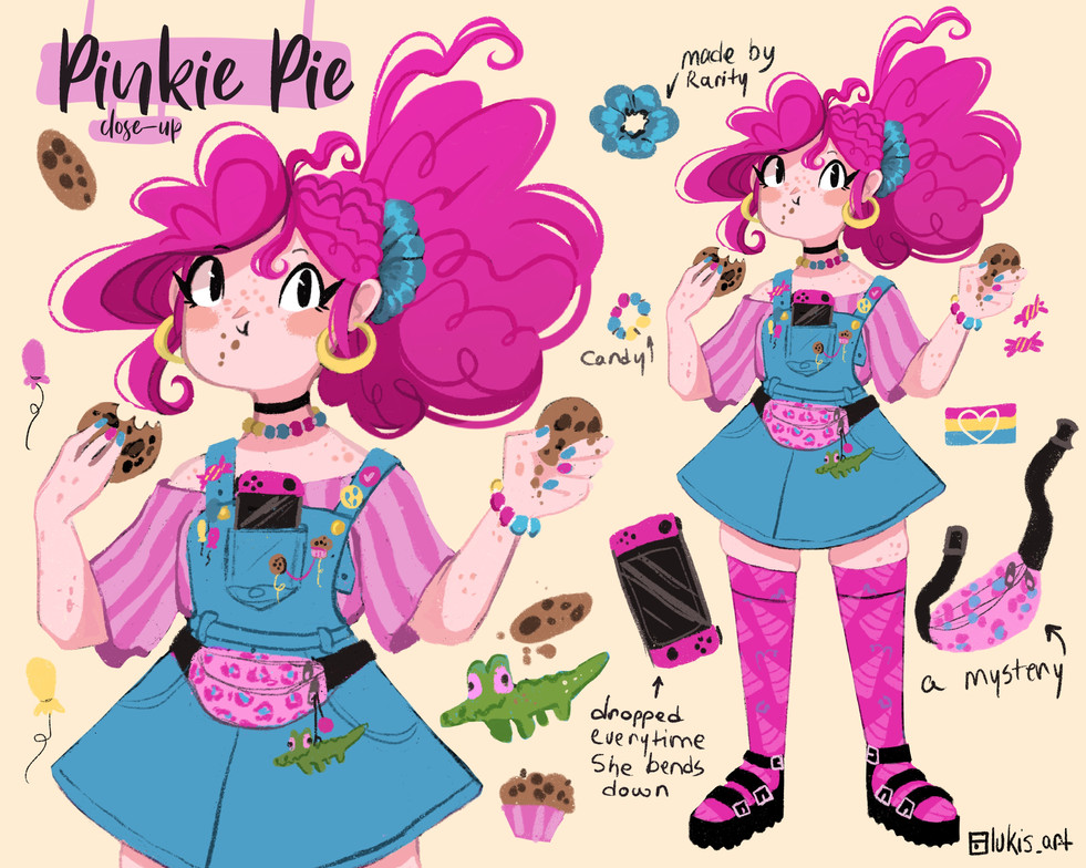 My Little Pony-Redesign Collection- Pinkie Pie