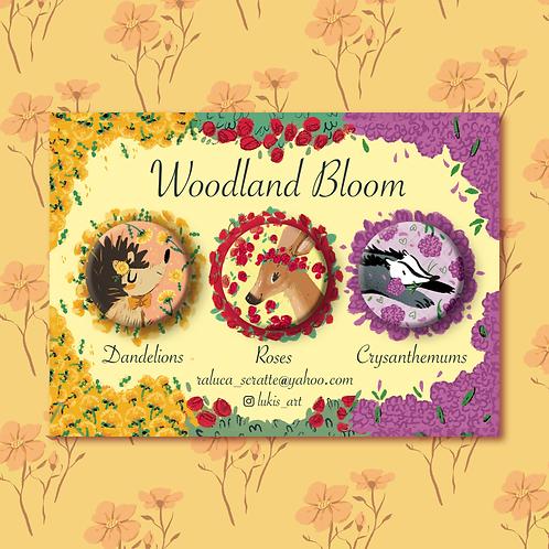 Woodland Bloom Badge Set